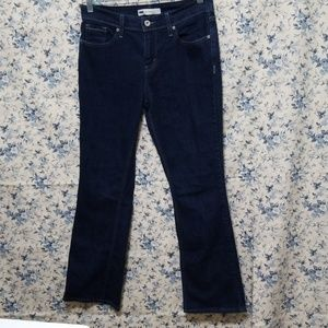 Levi's 515 bootcut dark denim jeans 8 short